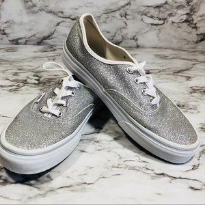 VANS Silver Sequin Size 7.5